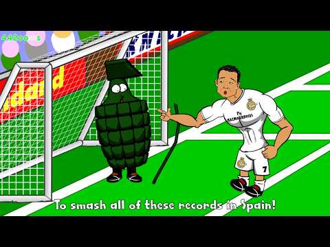 💪🏼RONALDO FIVE GOALS💪🏼Real Madrid vs Granada 9-1 Cartoon Charlie Adam Goal vs Chelsea