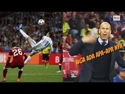 Reaksi 'GILA' Zidane kembali tertangkap Kamera setelah terjadi Gol Salto Gareth Bale