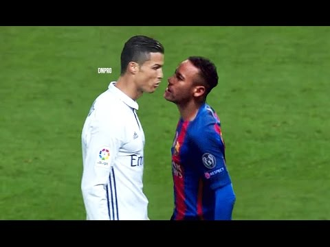 Cristiano Ronaldo Vs Neymar Jr: Ultimate Fights, Fouls, Red Cards, Angry Moments, El Clasico