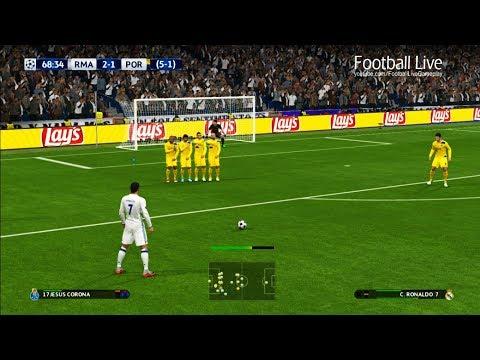 PES 2017 | Real Madrid vs FC Porto | C.Ronaldo Free Kick Goal & Full Match | UEFA Champions League