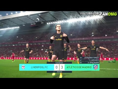 PES 2018 | Atletico Madrid vs Liverpool | Full Match Gameplay (PS4/XBOX ONE/PC) HD