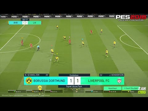 PES 2018 | Liverpool vs Borussia Dortmund | Full Match Gameplay (PS4/XBOX ONE/PC) HD