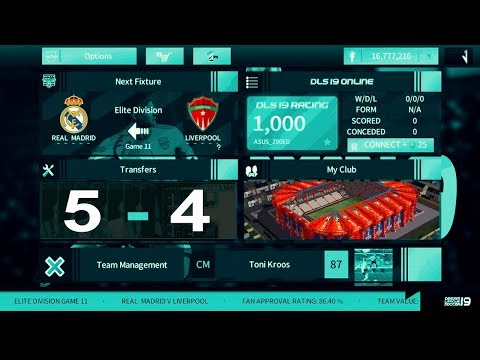 FINAL Match 🔥 Real Madrid 5-4 Liverpool 💥 Dream League Soccer 2018 Gameplay