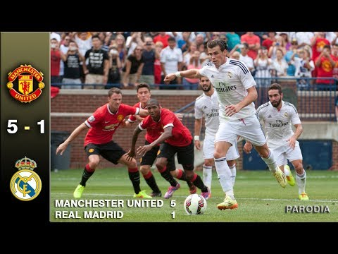 MANCHESTER UNITED 5 – 1 REAL MADRID –  INTERNATIONAL CHAMPIONS Cup / Parodia