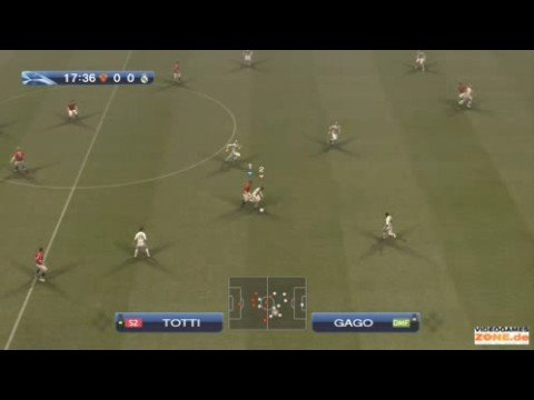PES 2009 AS Roma vs Real Madrid 1st half – Champions League