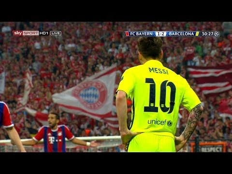 Lionel Messi vs Bayern Munich (UCL) (Away) 2014-15 English Commentary HD 1080i