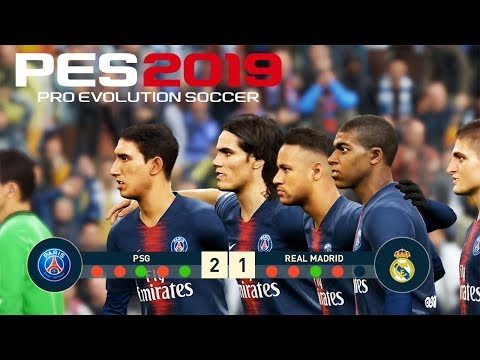 PES 2019 | PSG VS REAL MADRID | Penalty Shootout | Gameplay PC