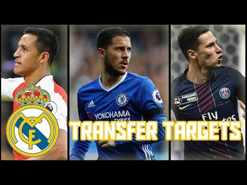 Top 5 Real Madrid Transfer Targets in January 2018
