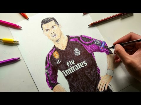Cristiano Ronaldo Pen Drawing – Real Madrid
