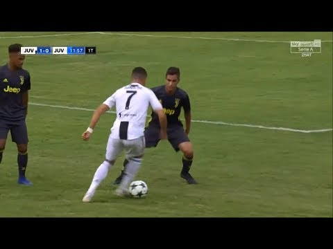 Cristiano Ronaldo (Debut) Vs Juventus B HD 1080i (12/08/2018) 👑