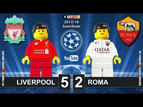 Liverpool vs Roma 5-2 • Semi-finals Champions League 2018 (24/04) Goals Highlights Lego Football