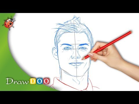 Cristiano Ronaldo from Real Madrid Drawing Tutorial