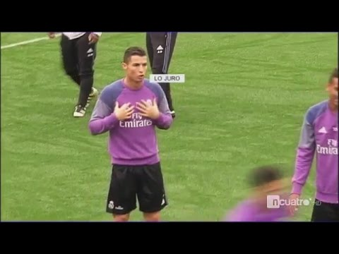 Cristiano Ronaldo Conflict vs Coentrao after Panna vs him on Real Madrid Training 28/10/2016