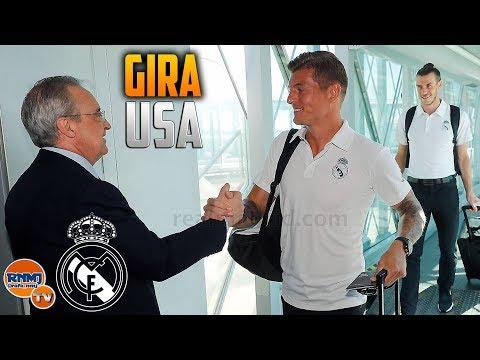 Así fue el viaje del Real Madrid a Miami para la gira USA (29/07/2018)