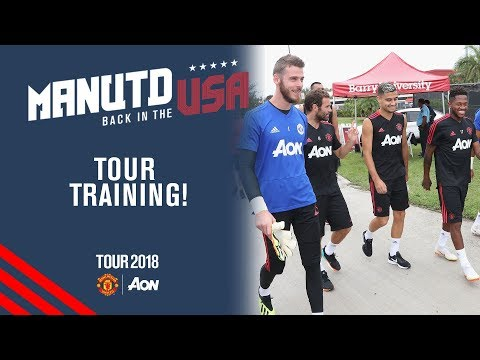 De Gea, Fred & Pereira | Manchester United Training | Utd v Real Madrid LIVE On MUTV Tues night!
