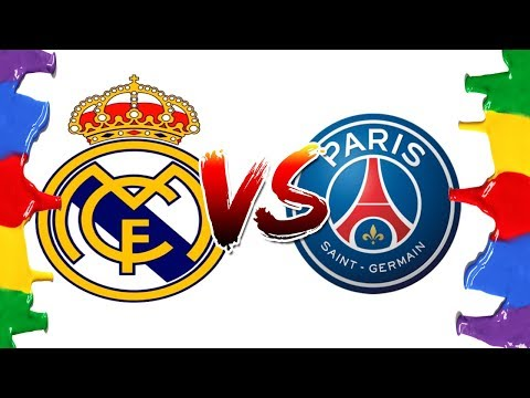 How to Draw and Color – Real Madrid Vs PSG Champions League Logos Coloring Pages