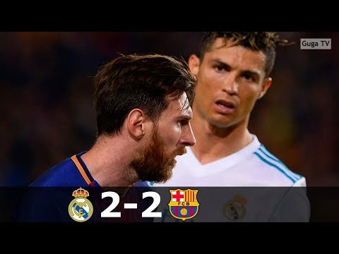 Barcelona vs Real Madrid 2-2 – La Liga 2017/2018 – Highlights (English Commentary) HD