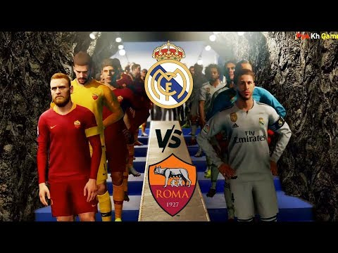 [PKG] PES 2019 UCL – REAL MADRID CF vs ROMA – Gameplay Ps4
