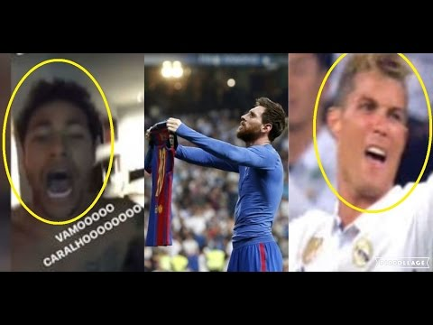 Real Madrid & Barcelona Players, Fans Reaction to Messi Winning Goal vs Real Madrid (El Clasico)