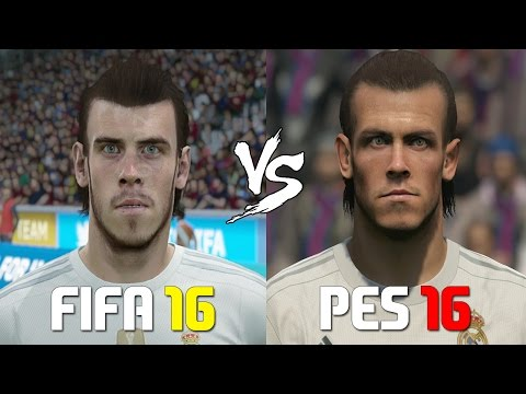 FIFA 16 vs PES 2016 Real Madrid Players Faces Comparison