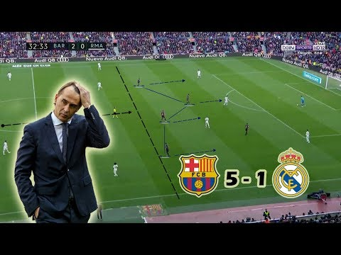 Julen Lopetegui's Last Game as Madrid Manager | Barcelona vs Real Madrid 5-1 | Tactical Analysis