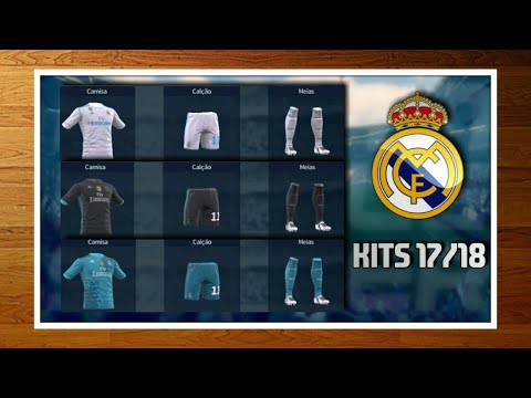 Kits Real Madrid 2017/2018 para DLS 17! Dawnloads completos""