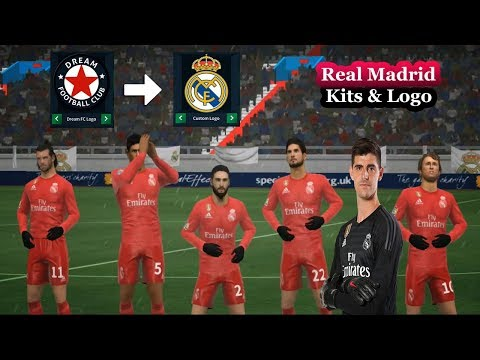 *NEW* Real Madrid Kits Logo & Players (2018/19) ★ Dream League Soccer 2018