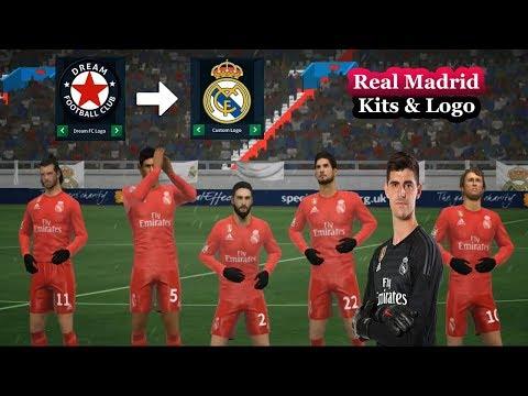 *NEW* Real Madrid Kits Logo & Players (2018/19) ★ Dream League Soccer 2018