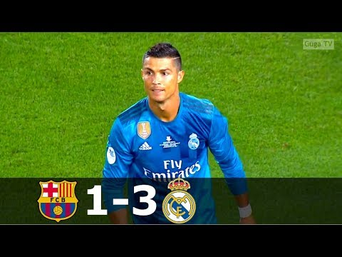 Barcelona vs Real Madrid 1-3 – Full Highlights – SSC 2017 HD