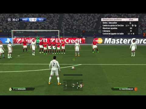 PES 2015 Gameplay español Real Madrid vs Manchester United
