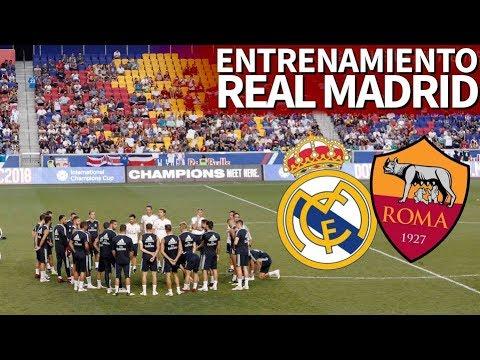 Real Madrid – Roma | Entrenamiento del Madrid previo al último partido de la ICC 2018 | Diario AS