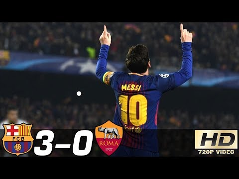 Barcelona vs AS Roma 3-0 – All Goals & Extended Highlights Résumé & Goles ( Last Match ) HD