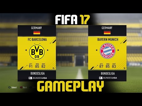 FIFA 17 | Borussia Dortmund vs Bayern Munich | Full Match Gameplay (PS4/XBOX ONE)