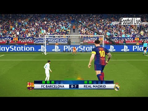 PES 2018 | Penalty Shootout | GIANT players Barcelona vs TINY players Real Madrid | Gameplay PC