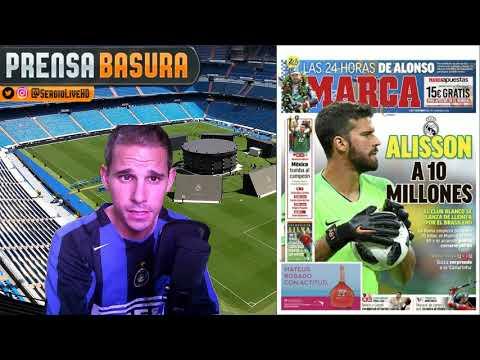 ALISSON CERCA DEL REAL MADRID según MARCA.. QUE PASARÁ CON KEYLOR NAVAS? #PRENSABASURA
