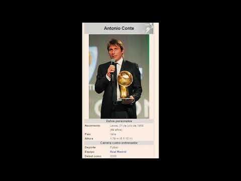 Antonio Conte nuevo entrenador Del Real Madrid según la wikipedia