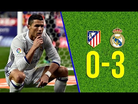 Atlético Madrid vs Real Madrid 0-3 – All Goals & Extended Highlights -19/11/2016 HD