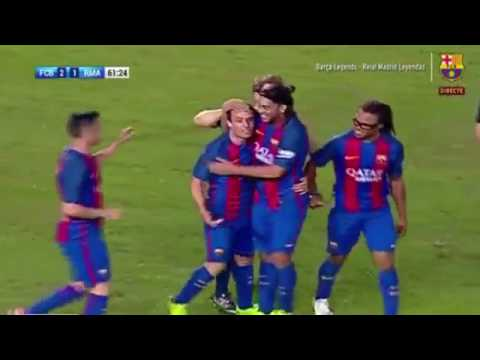 Barcelona Legends Vs Real Madrid Legends 3-2 All Goals & Highlights 28/04/2017