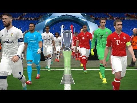 PES 2017 UEFA Champions League Final † Bayern München vs Real Madrid Gameplay
