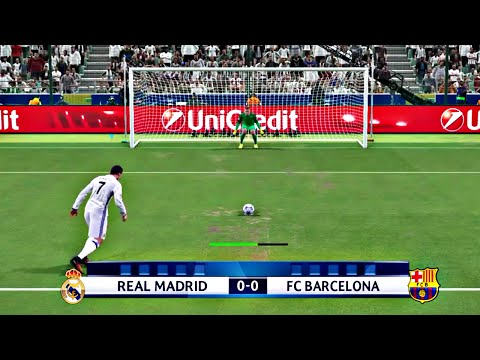 PES 2017 – Penalty Shootout [Barcelona Vs Real Madrid]