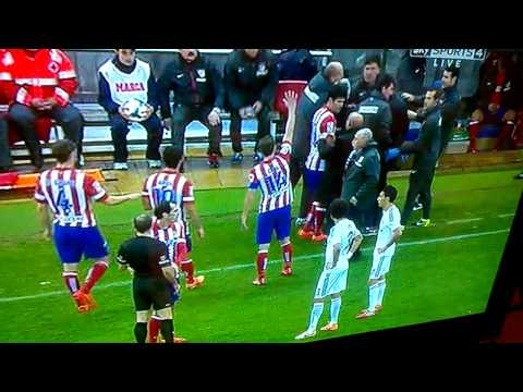 Tantrum and Mayhem on the touchline at the Athletico Madrid Vs Real Madrid Derby match 2014
