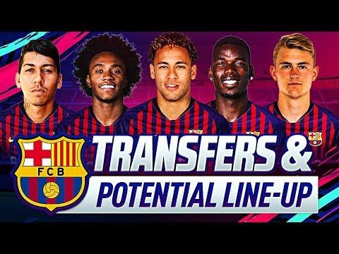 BARCELONA TRANSFER TARGETS & POTENTIAL LINEUPS 2019-2020 | w/ POGBA SALAH DE LIGT & NEYMAR JR.