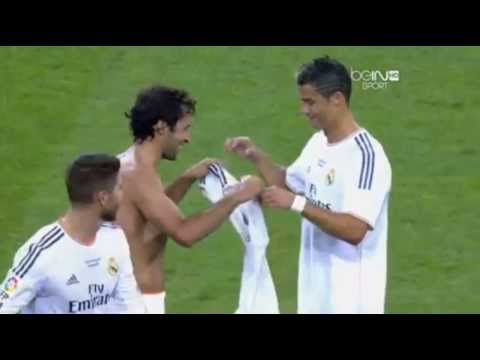 Raul Gonzales Give T shirt to Cristiano Ronaldo in Real Madrid 5 – 0 Al Sadd