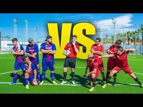 BARCELONA VS ROMA (Ida) PARTIDO FÚTBOL CHAMPIONS [Crazy Crew]