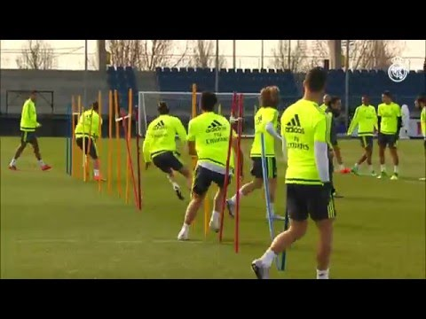 Real Madrid complete final training session before the Celta game
