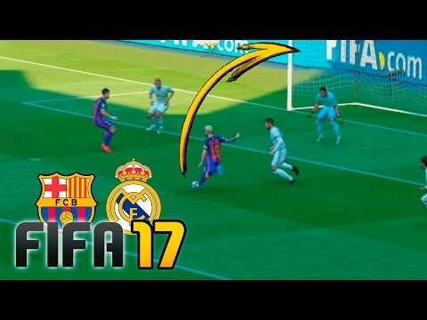 Real Madrid vs Barcelona | FIFA 17 – Santiago Bernabéu