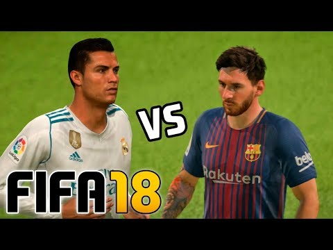 Real Madrid vs Barcelona | FIFA 18 – Santiago Bernabéu