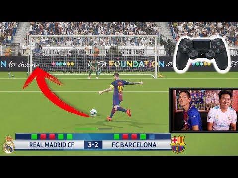 ¡REAL MADRID vs BARCELONA! Reto Penaltis en PES 2018 con CASTIGO EXTREMO
