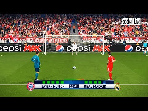PES 2018 | Bayern Munich vs Real Madrid | UEFA Champions League (UCL) | Penalty Shootout