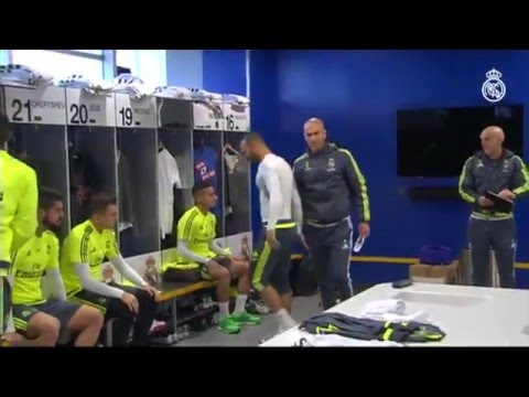 Zidane's first training session as Real Madrid coach